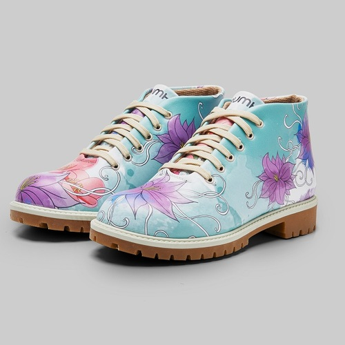 [mumka] Orchids and Lillies Shortboots
