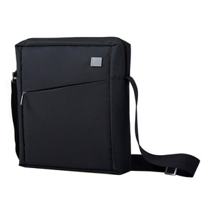 [스크래치] Airline Pad Shoulder Bag - Wool Inex Black (LN329N)