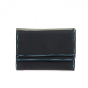 [Mywalit] Double Flap Purse/Wallet / Black Pace (250-4)