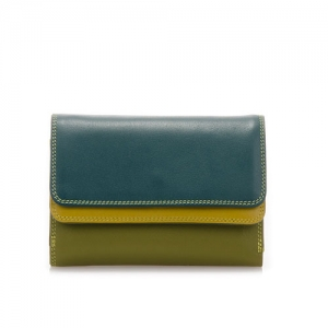 [Mywalit] Double Flap Purse/Wallet / Evergreen (250-105)