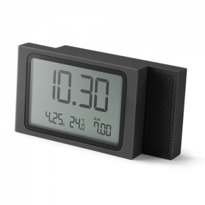 [LEXON] SLIDE lcd alarm clock dark grey - LR141G3
