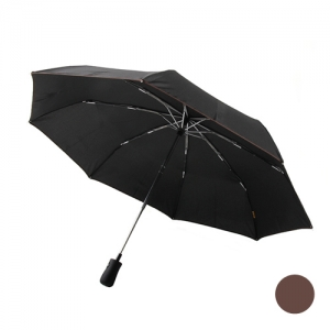 [ARAON] Auto Close UMBRELLA 아라온 3단 자동 우산 - Brown(브라운) - ARA701NM